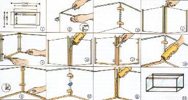Аквариум своими руками. Склейка стекол